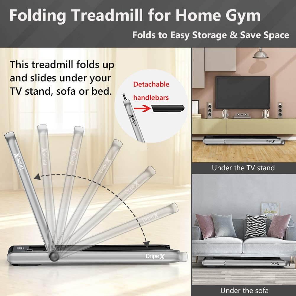 Dripex 2 in 1 Folding Treadmill 2