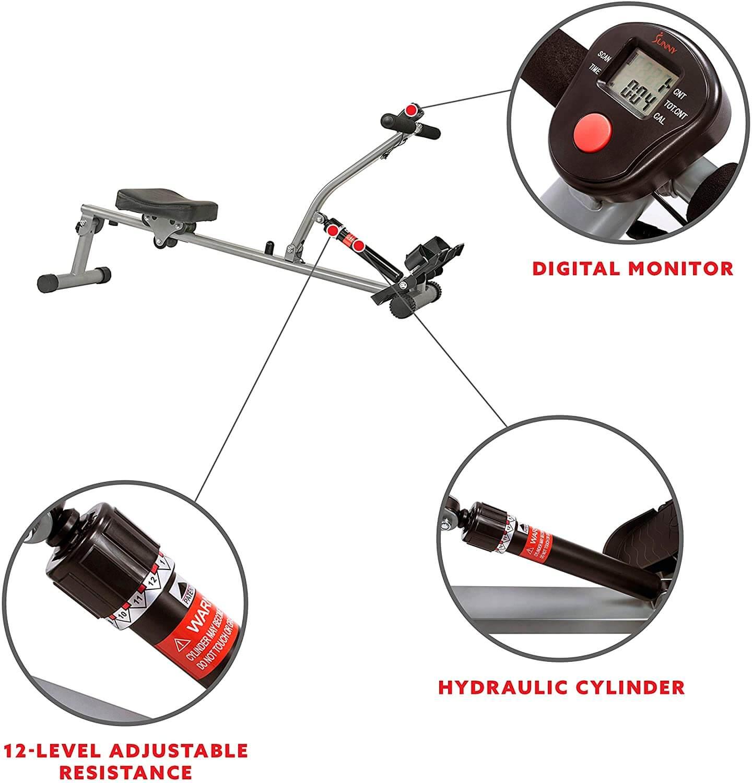 Sunny Health & Fitness SF-RW1205 rowing machine 2