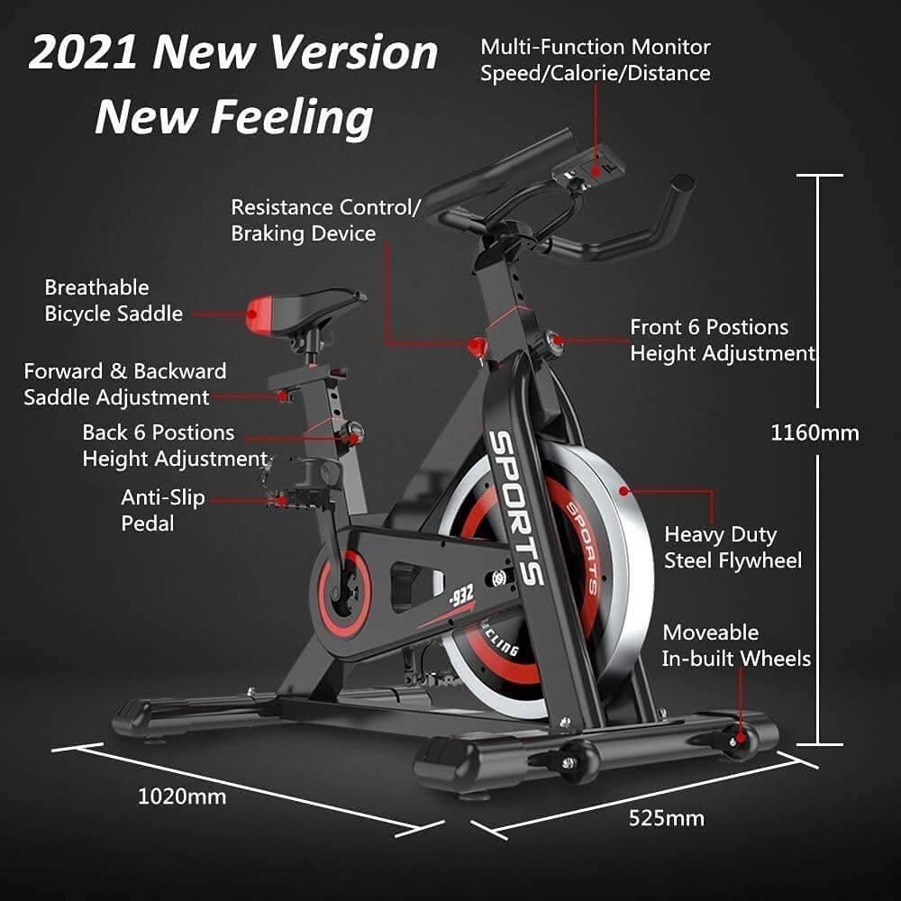 dripex exercise bike details